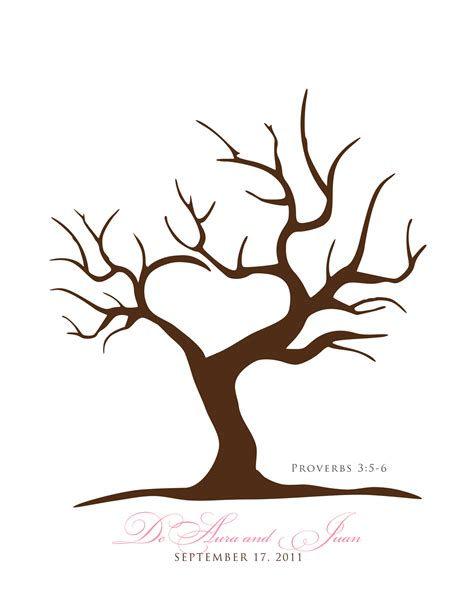 printable tree template best photos of printable fingerprint tree template
