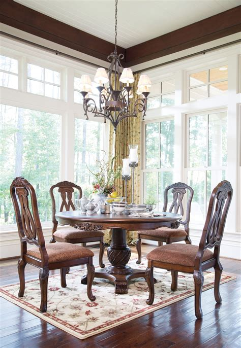 north shore dining room set north shore round pedestal dining room set from ashley