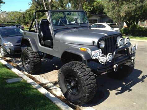 flat gray jeep purchase used cj7 lifted matte grey jeep 1980 38x15 5x18