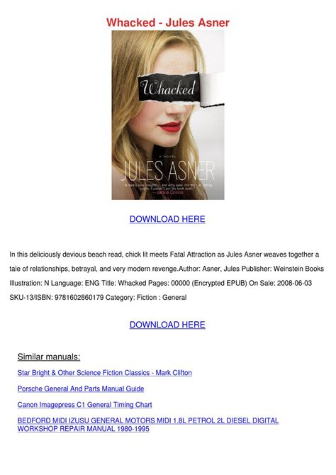 New Book Review Whacked Jules Asner by Whacked Jules Asner By Milagromondragon Issuu
