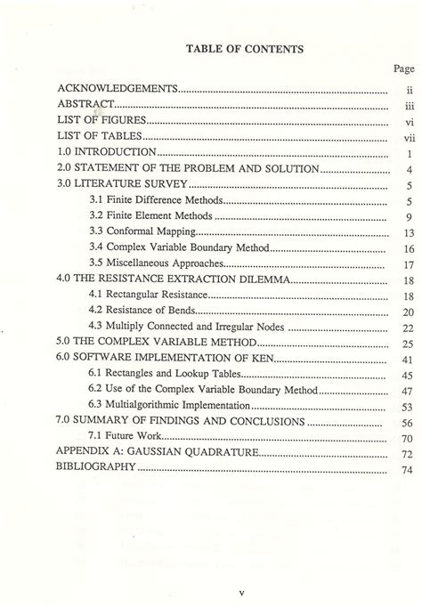 table of contents dissertation template dissertation table of contents dissertation