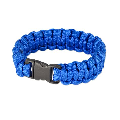 Blue Bracelet 7 quot solid color paracord bracelet 7 quot x3 4 quot royal blue 1 pc