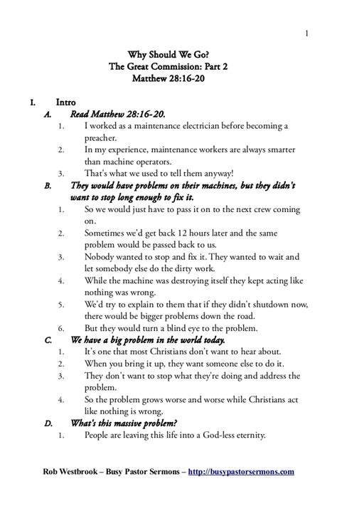 how to create a sermon outline template sermon outline matthew 28 16 20