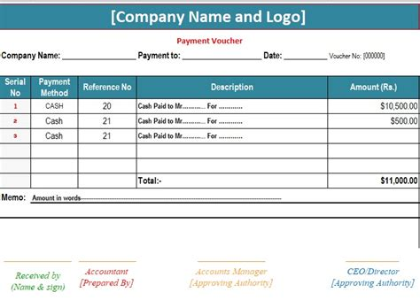 11 payment voucher templates free sample example format