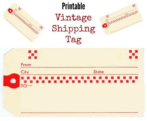 printable shipping tags vintage shipping tags images