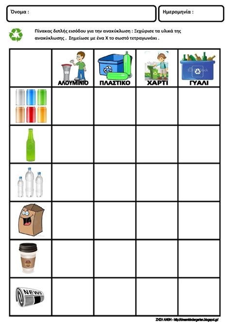 Kindergarten Activities Recycling | 17 best images about pyp sharing the planet recycling