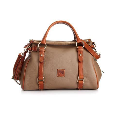 Dooney Bourke Ebelle5 Designer Dooney And Bourke Mini Handbag And Organizer Giveaway by Dooney Bourke Dillen Ii Small Satchel In Brown Navy Lyst