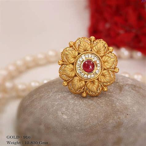 big size gold finger rings designs  female kurti blouse