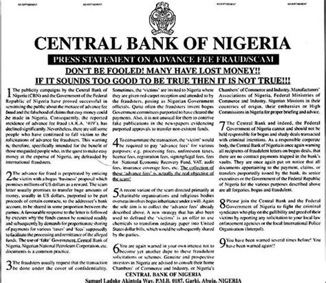 Letter Of Credit Nigeria The Scams In The For 2009 Best And Worst