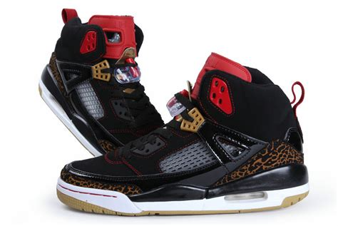 authentic air spizike black white gold shoes for sale