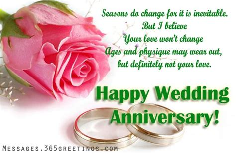 Wedding Anniversary Message To My by Wedding Anniversary Wishes And Messages 365greetings