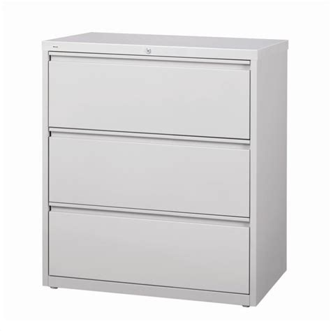 3 Drawer Lateral File Cabinets 3 Drawer Lateral File Cabinet In Gray 14975