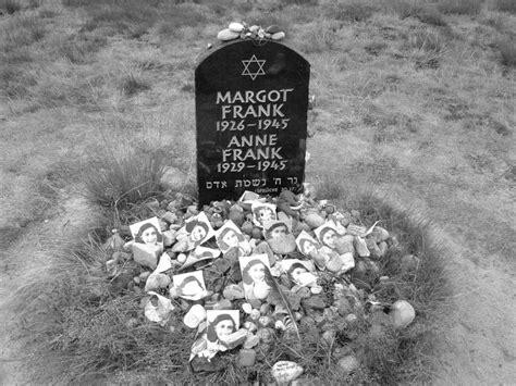 frank concentration c grave of margot frank and frank at bergen belsen