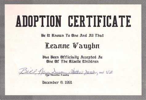 adoption certificate image gallery joke adoption certificate