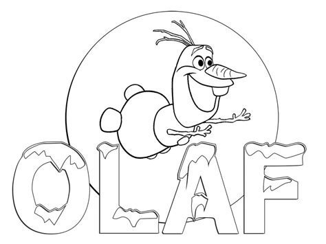 easy olaf coloring pages free coloring pages of olaf