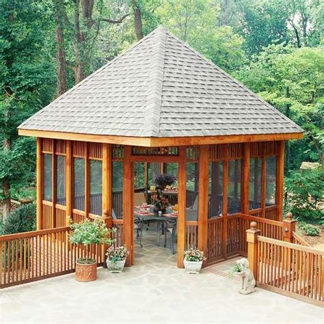 gazebo deck corner deck gazebo artwork screened