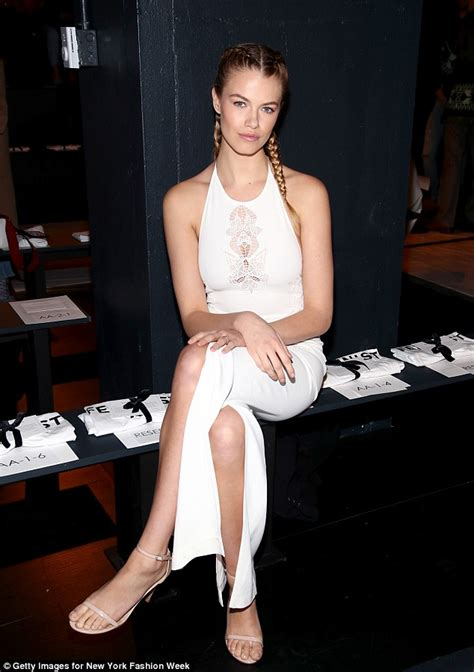 Heat Up Bcbg Front Row by Palermo Attends The Jonathan Simkhai Nyfw Show
