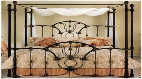 designs tiffanywrap canopy bed wrought rod iron beds antique interior