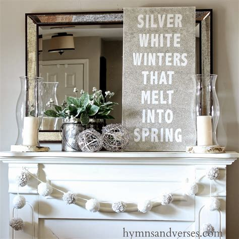 Michaels Wall Stickers silver white winters that melt into spring glitter
