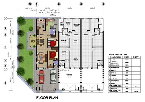layout rumah teres bandacaya home design idea