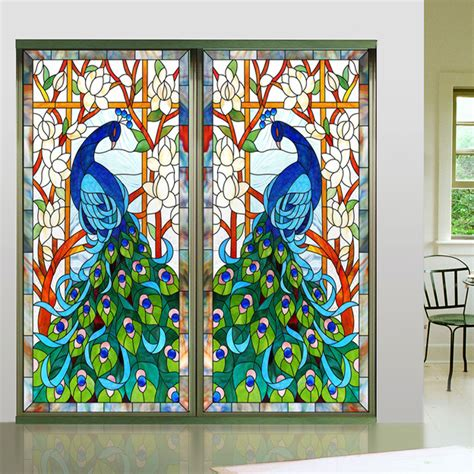 decorative window stickers for home aliexpress com buy new design europen style peacock