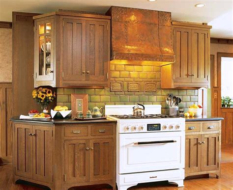 traditional kitchen cabinets with white kitchen stove and