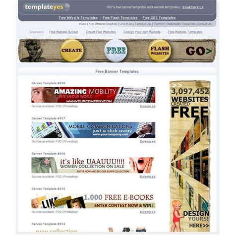good templates for website free download top 10 free website banner templates free designs and