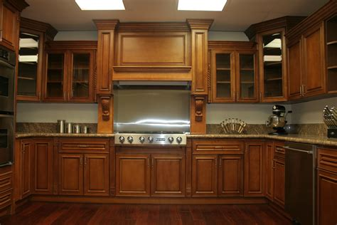 Interior Of Kitchen Cabinets by Interior Ideas Deep Brown Wooden Maple Kitchen Cabinets