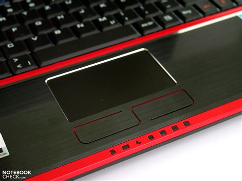 Touchpad Notebook test msi gx740 i7247lw7p gaming notebook notebookcheck