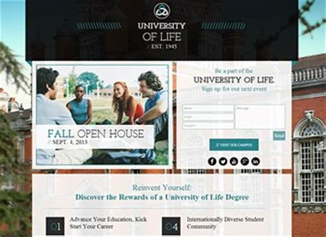 University Landing Page Website Template Wix Wix Landing Page Templates