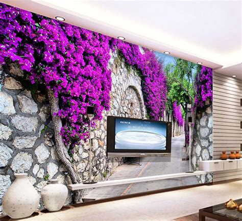 Purple Flower Wall Murals