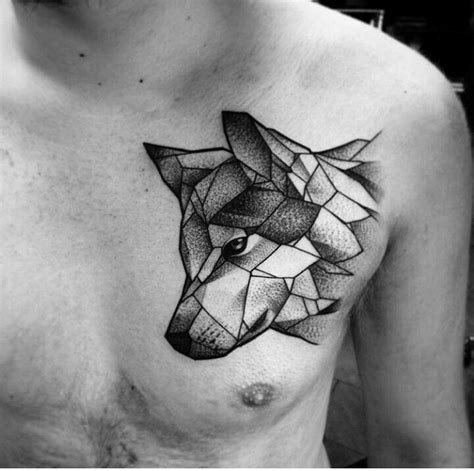 chest tattoo hashtags wolf geometric tattoo search q 23inlove rs hashtag