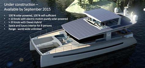 electric catamaran plans power catamaran electric diesel hybrid from solarwave