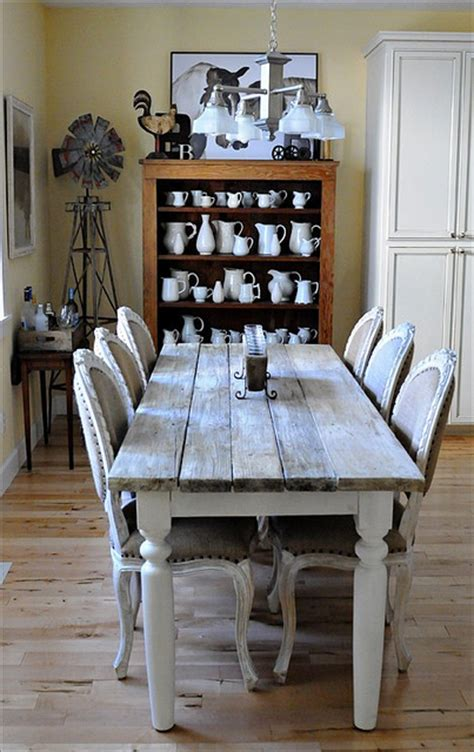 farm style dining room tables farmhouse style county chic rustic living room long