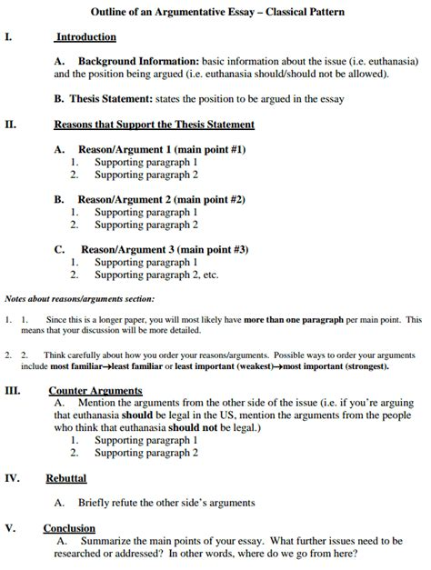 proposal argument layout argumentative essay format exles of argumentative