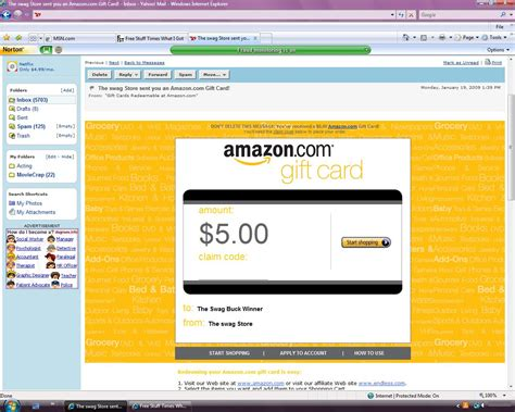 Swagbucks Amazon Gift Card - 5 amazon gift card from swagbucks free stuff times what i got