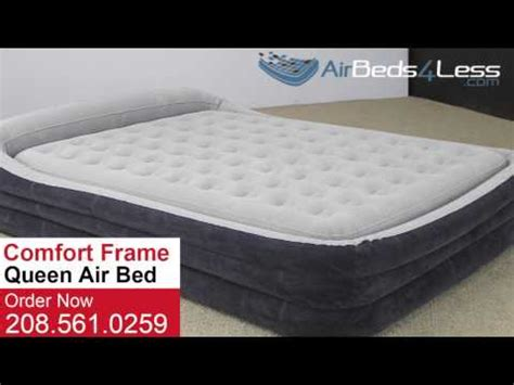 intex queen comfort frame bed intex queen size comfort frame air bed youtube
