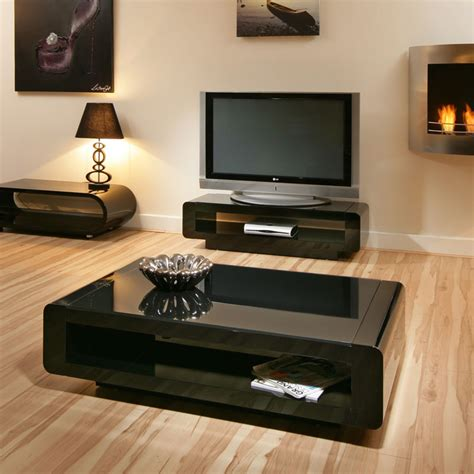 black gloss coffee l side table black glass top