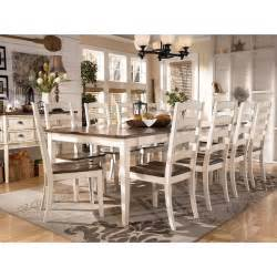 ashley furniture kitchen sets whitesburg formal dining room set w 2 chair choices