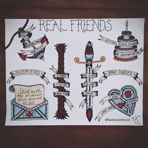 pop punk tattoos 25 best ideas about real friends lyrics on