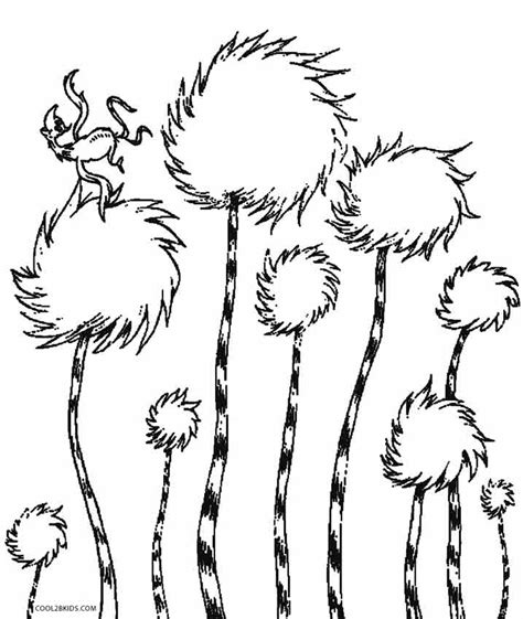lorax coloring pages a truffula tree coloring pages
