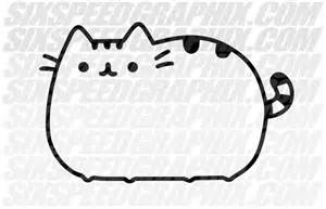 Black And White Pusheen Cat Coloring Pages Sketch Page sketch template