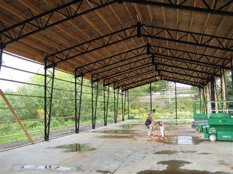 vaulted clearspan truss web steel buildings northwest llc