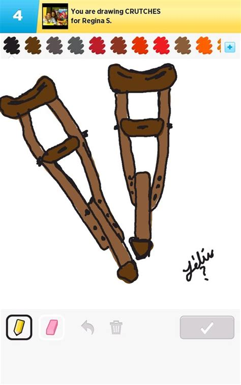 Crutches Drawing