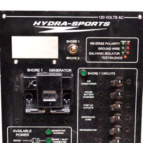stratos boat switch panel stratos 120 vac hydra sports boat shore generator circuit