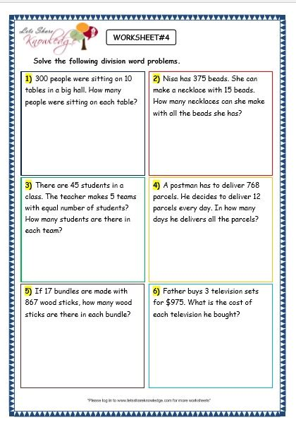 free printable worksheets on division word problems common worksheets 187 division word problems worksheets