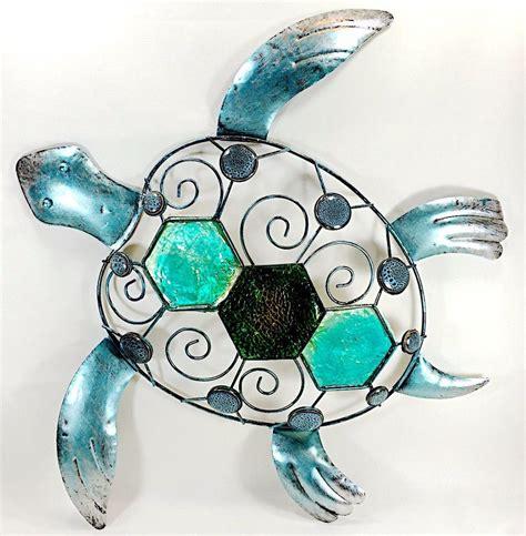 sea turtle metal and jeweled wall sea home decor