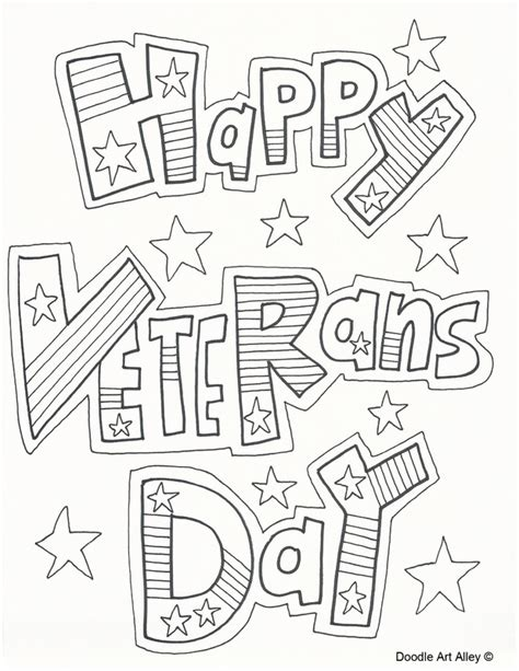 printable coloring pages veterans day happy veterans day coloring pages coloringstar