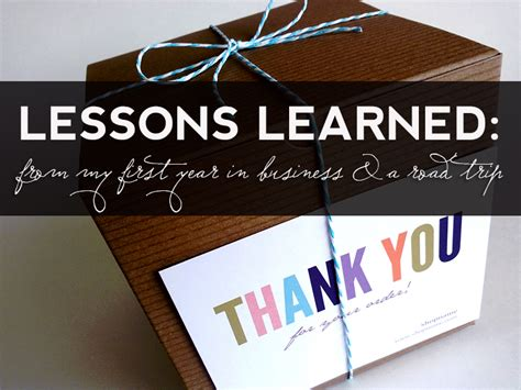 Lessons Learned From Years With Businesses by Lessons Learned From My Year In Business And A Road