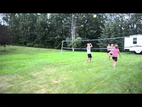 backyard volleyball backyard volleyball highlights youtube